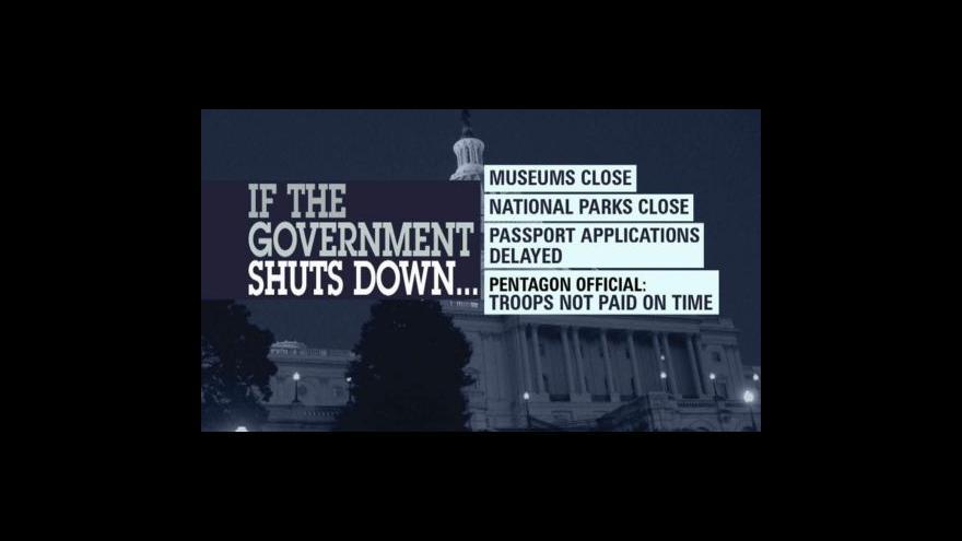 Video USA v rozpočtové krizi
