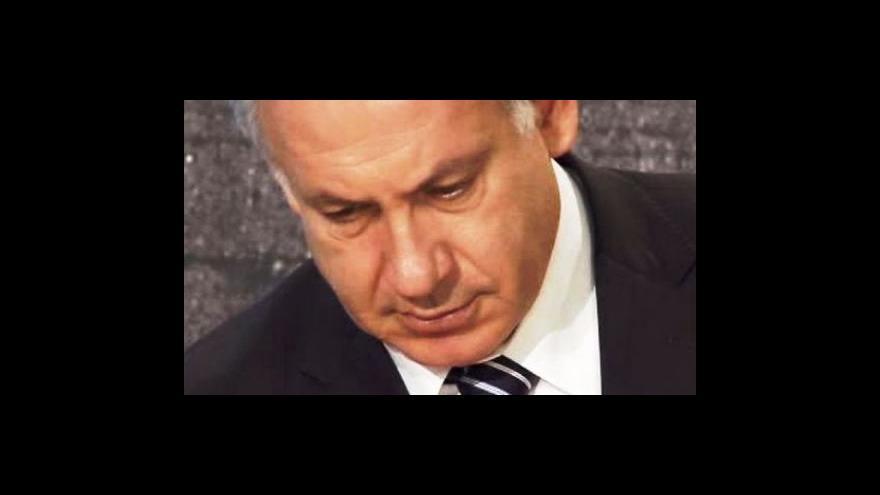 Video Studio ČT24 o příjezdu Benjamina Netanjahua