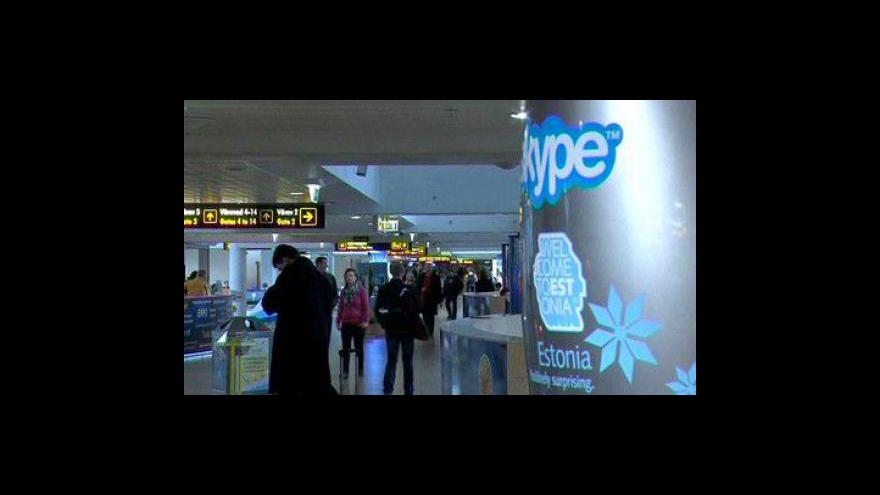 Video Skypovací budka na letišti v Tallinnu