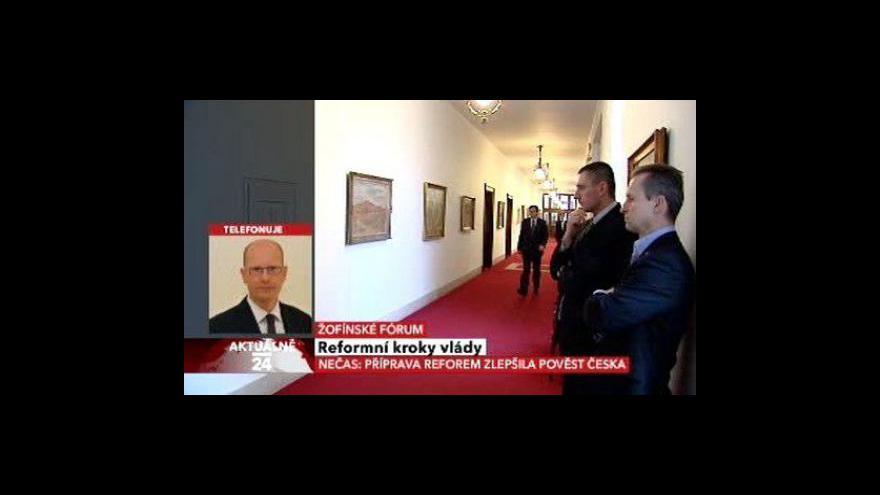 Video Bohuslav Sobotka o vládních reformách