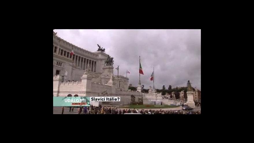 Video Události, komentáře o italských oslavách