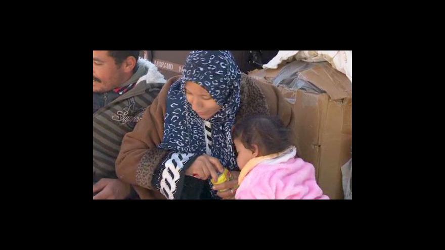 Video Telefonát Petra Zavadila a reportáž o uprchlících