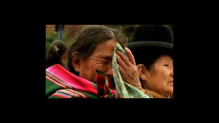 Video Bolívii zasáhly sesuvy půdy