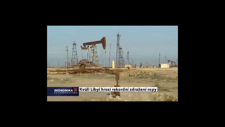 Video Ceny ropy letí vzhůru