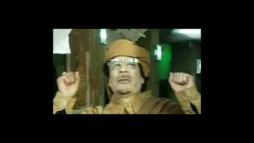 Video Čtvrteční projev Muammara Kaddáfího
