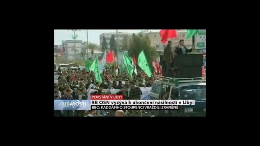 Video Vyhrocená situace v Libyi