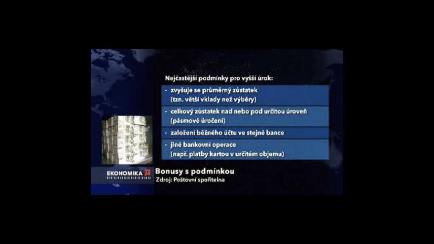 Video Ekonomika ČT: Spořící účty