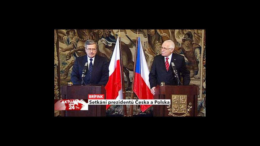 Video Brífink po setkání českého a polského prezidenta