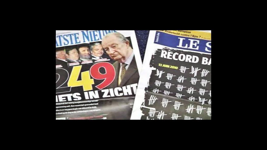 Video Belgie slaví rekord bezvládí