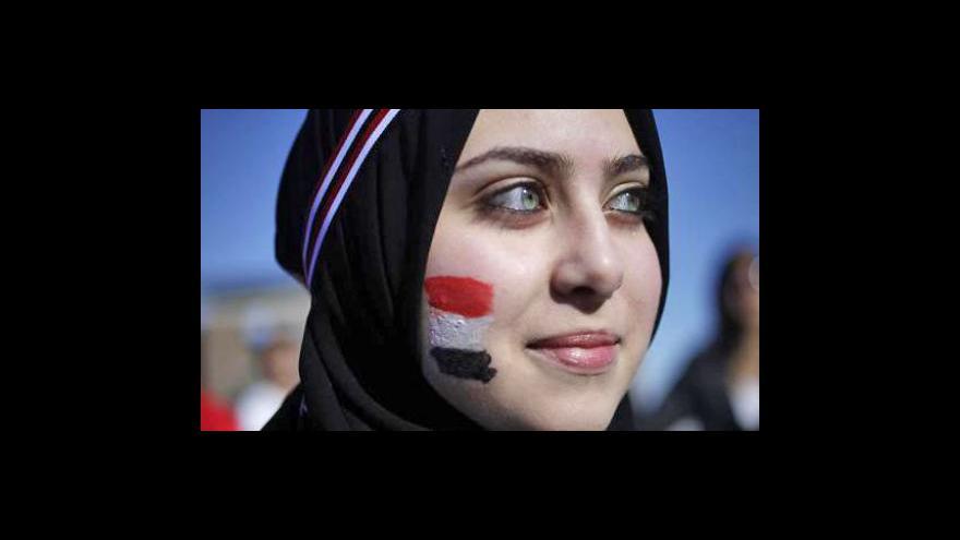 Video ČT24 k arabským demonstracím