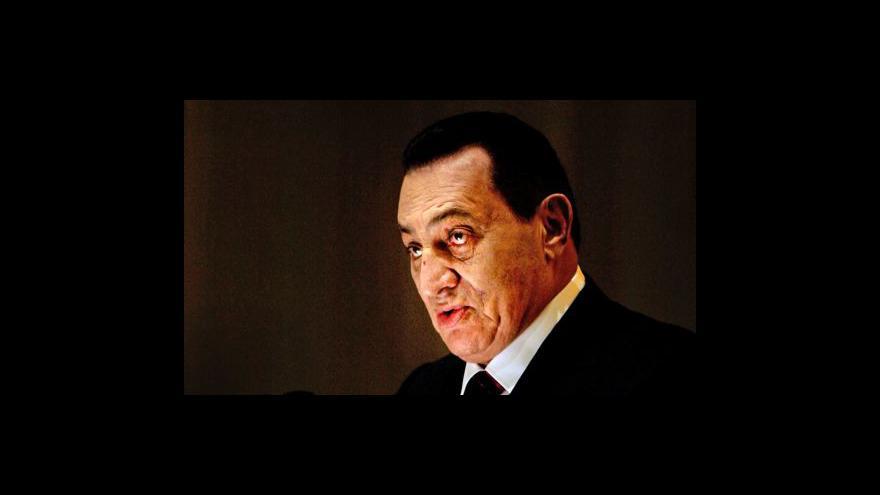 Video Odpolední speciál k pádu prezidenta Mubaraka