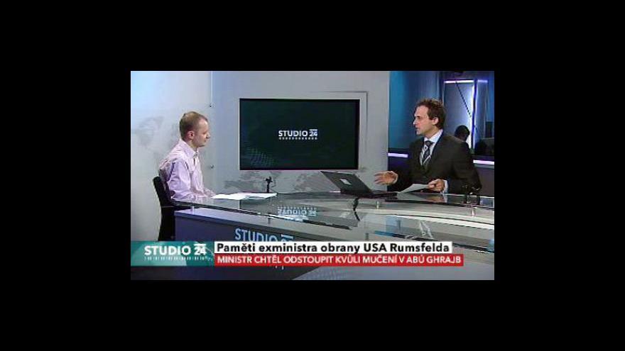 Video Studio ČT24 o pamětech Rumsfelda