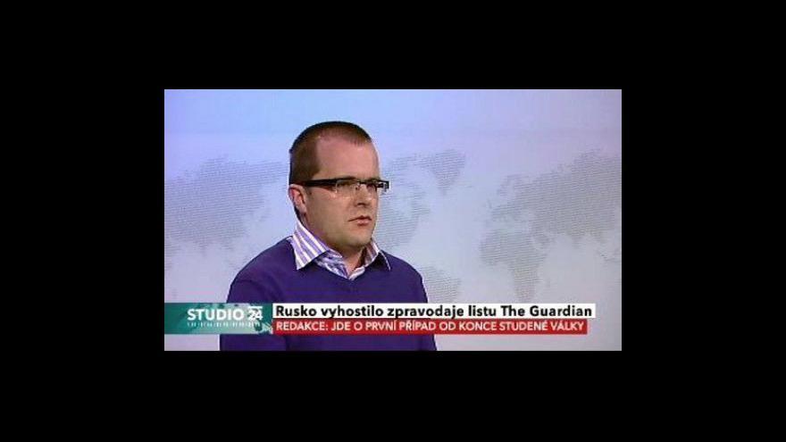 Video Studio ČT24: Vyhoštění britského novináře z Ruska