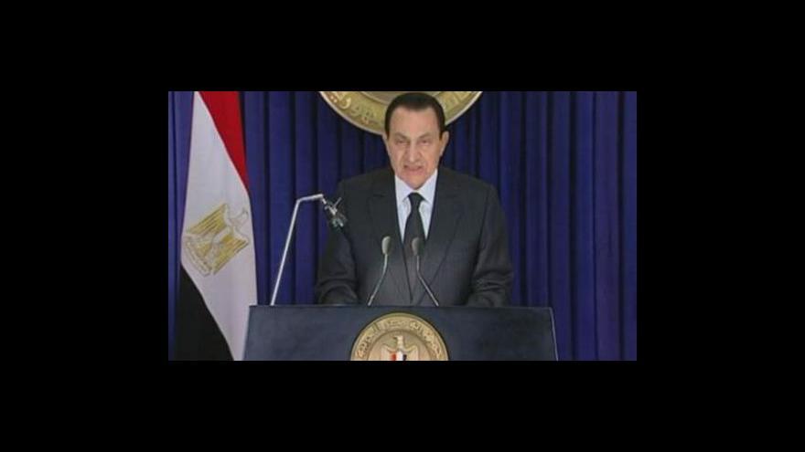 Video Mubarak nebude znovu kandidovat