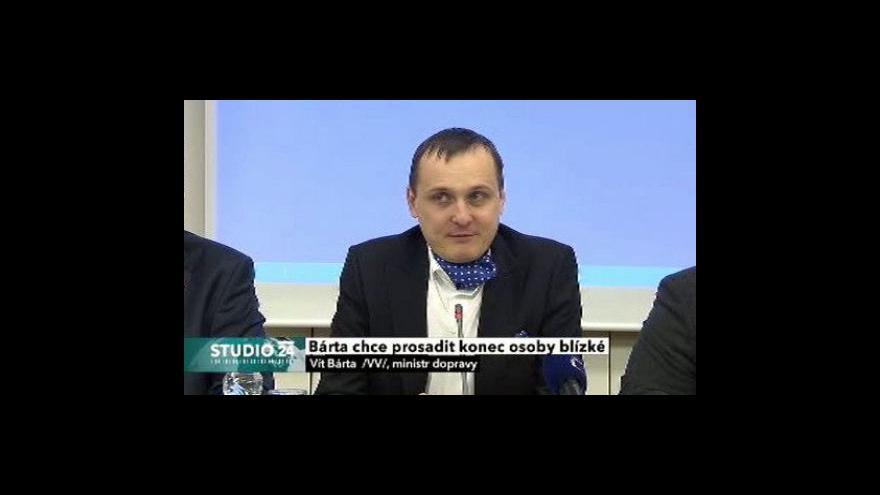 Video Brífink ministra dopravy, rozhovor s R. Šmerdou