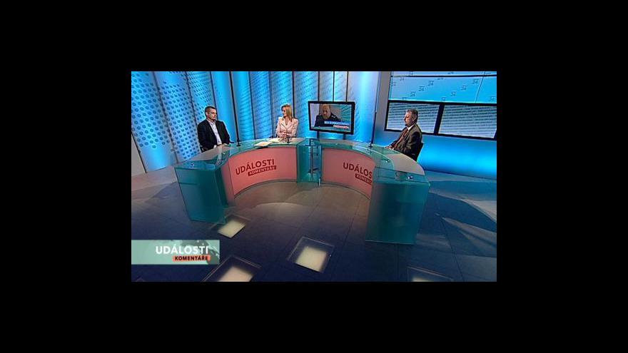 Video Radek John, František Bublan a Jan Vidím v Událostech, komentářích