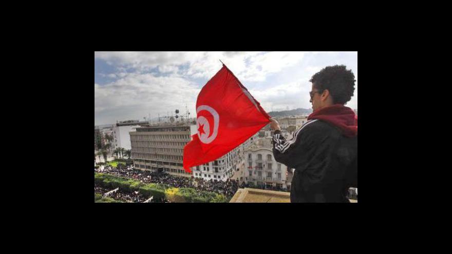 Video Demonstranti požadují reziganci tuniského prezidenta