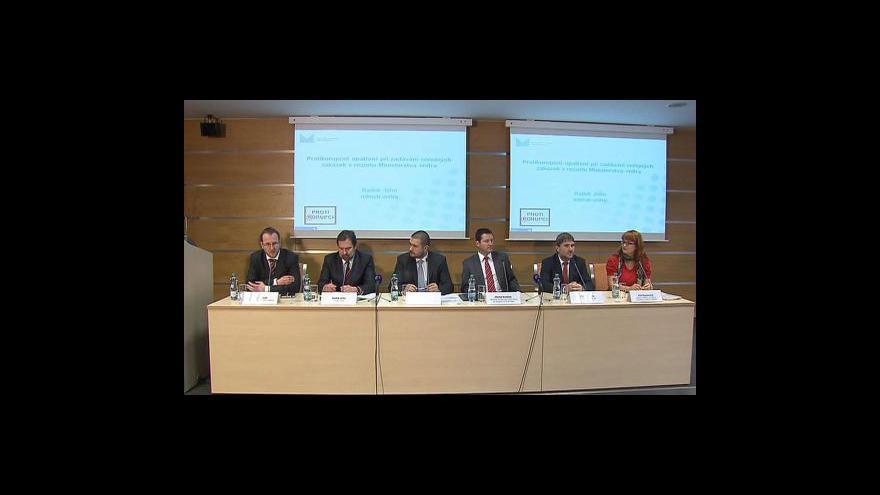 Video TK ministerstva vnitra o zadávání veřejných zakázek