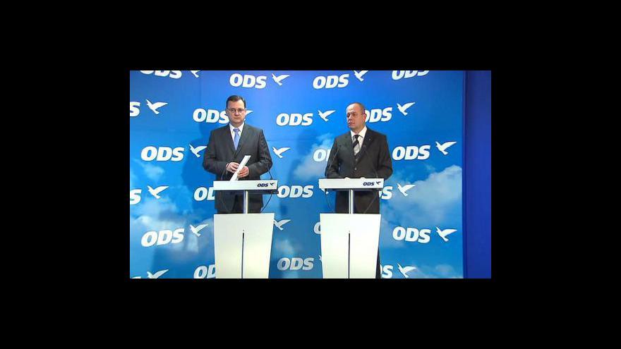 Video Tisková konference ODS k důchodové reformě