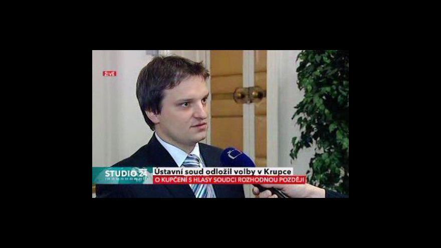 Video Studio ČT24 k opakovaným volbám v Krupce