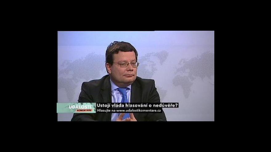 Video Události, komentáře o vládní krizi