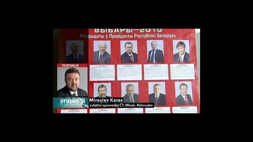 Video Studio ČT24: Bělorusko se připravuje na volby