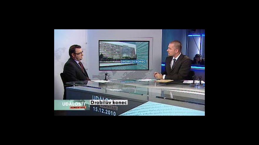 Video Události, komentáře o rezignaci ministra Drobila