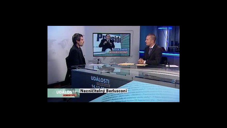 Video Znovuzvolení Berlusconiho tématem Událostí, komentářů
