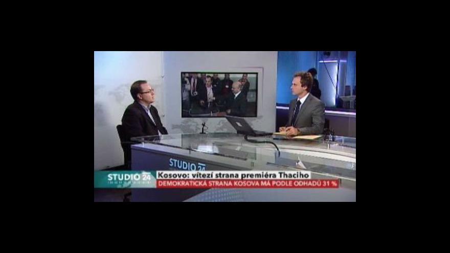 Video Studio ČT24 ke kosovským volbám