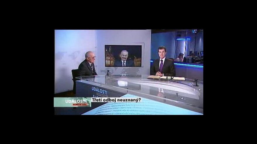 Video Události, komentáře o zákonu o třetím odboji