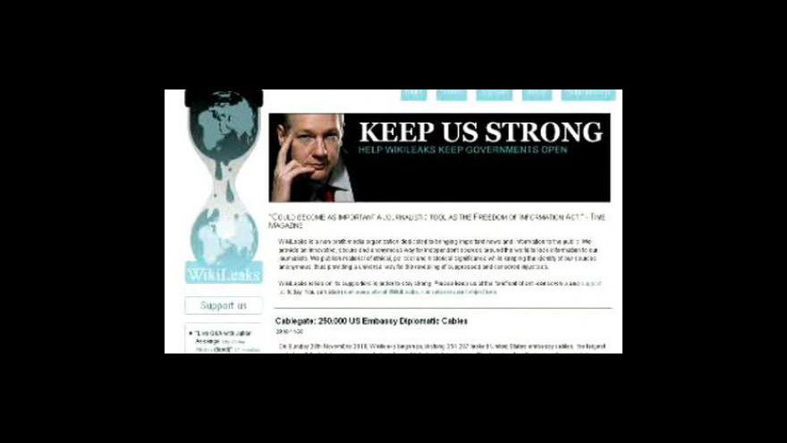 Video WikiLeaks zveřejnil seznam strategických míst