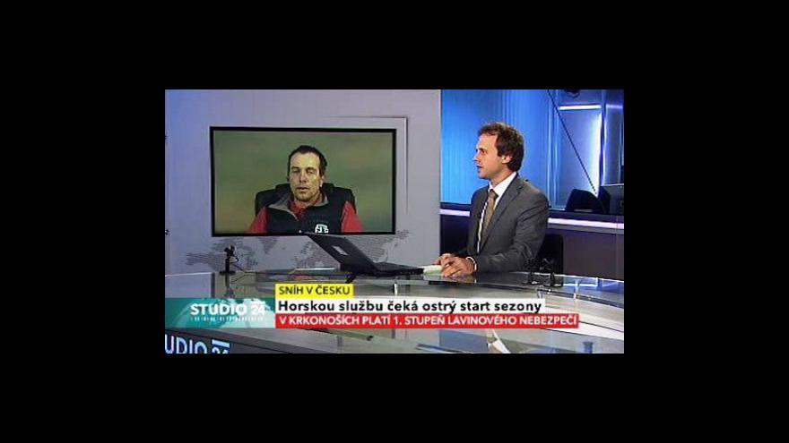 Video Studio ČT24 o začátku lyžařské sezony