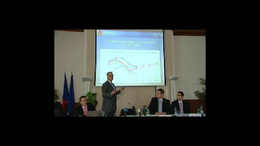 Video Brífink ministerstva financí
