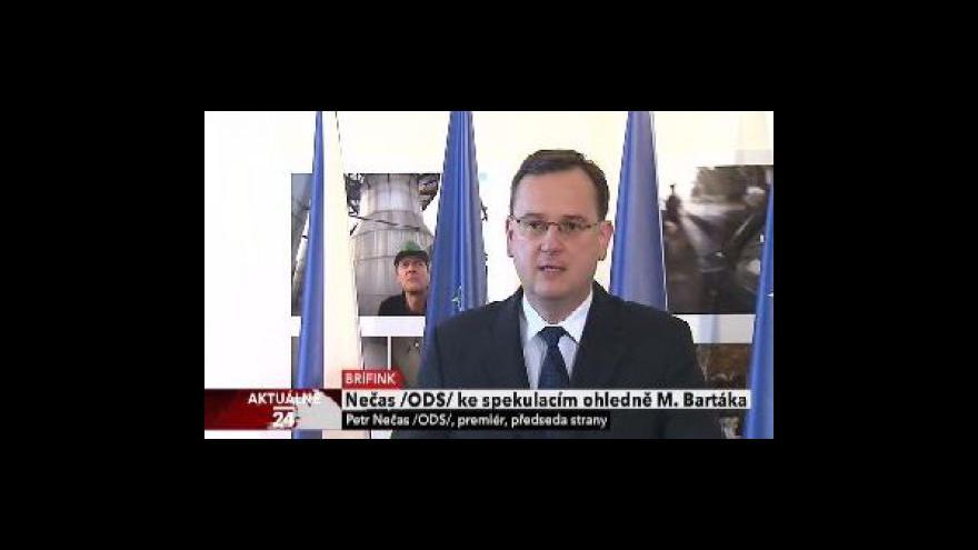 Video Brífink premiéra k případu Bartáka