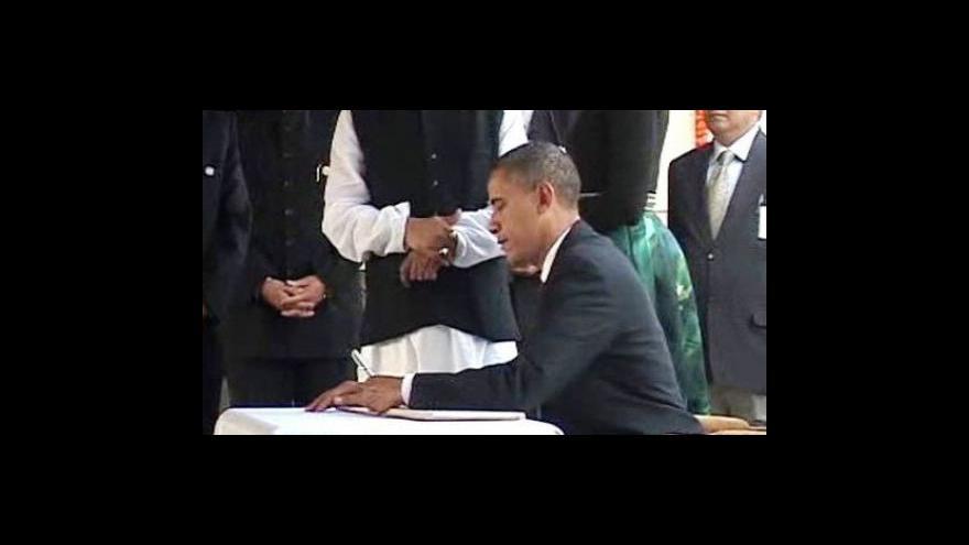 Video Barack Obama je na návštěvě v Indii