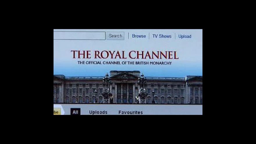 Video Britská královna na facebooku