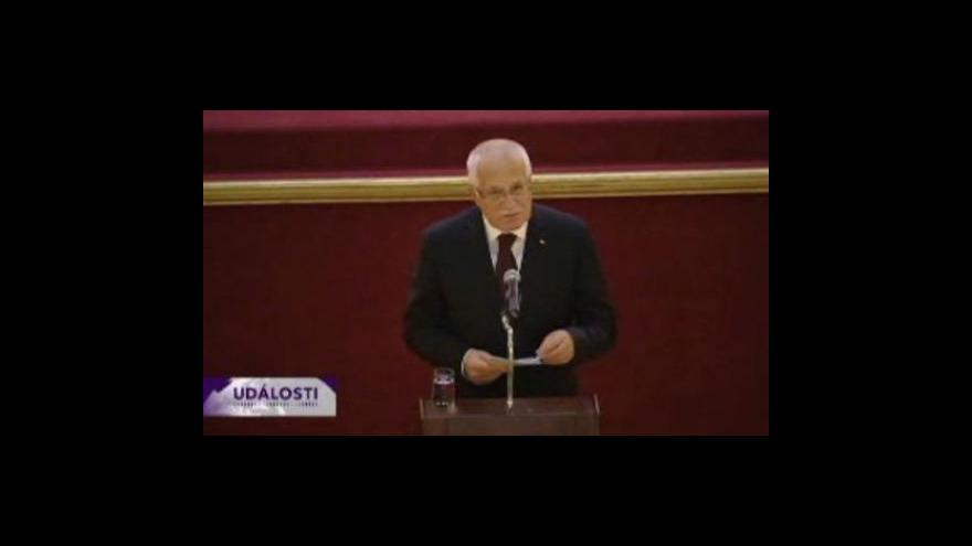 Video Projev českého prezidenta Václava Klause