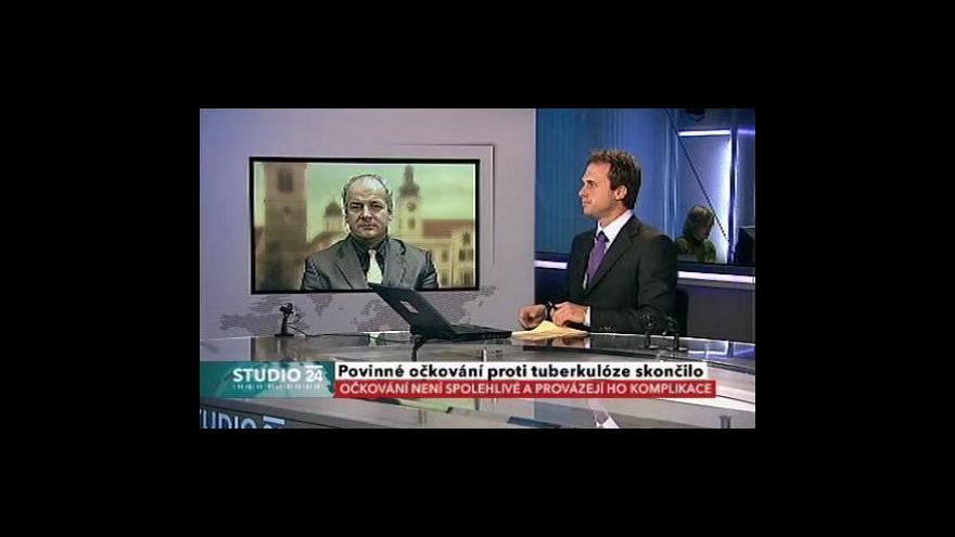 Video Roman Prymula ve Studiu ČT24