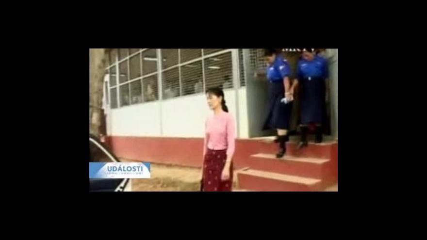Video Barmský soud řeší odvolání Su-Ťij