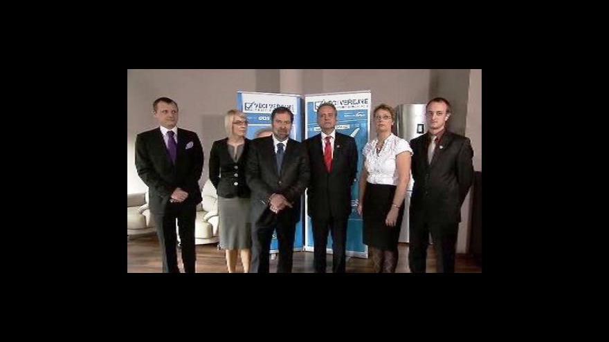 Video Brífink Věcí veřejných k senátním volbám