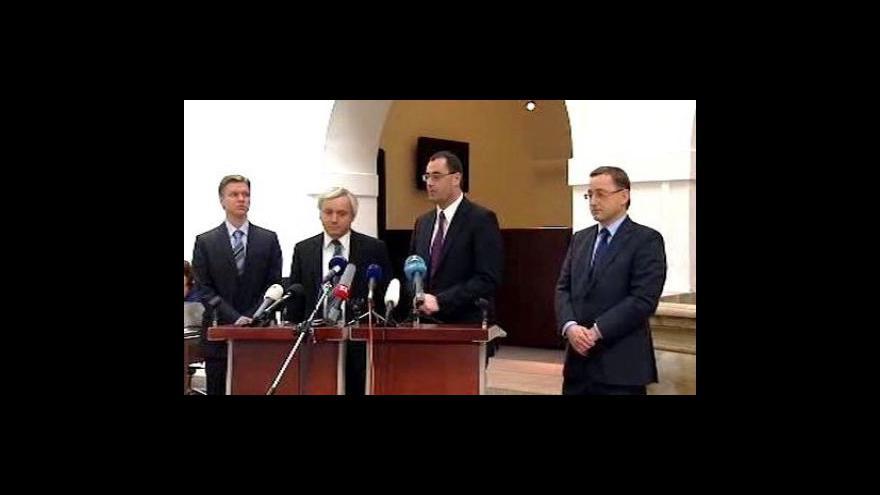 Video Brífink po jednání pražské ODS a TOP 09