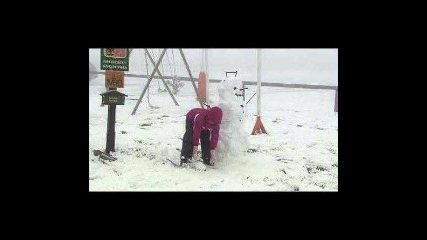 Video Na horách napadl první sníh
