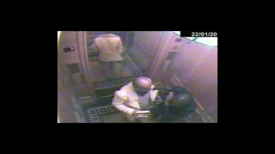 Video Záběry z bezpečnostní kamery v hotelovém výtahu