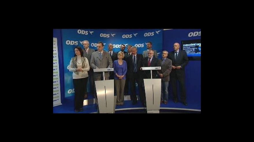 Video Brífink ODS k 2. kolu senátních voleb