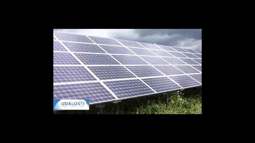 Video Nová daň pro velké sluneční elektrárny