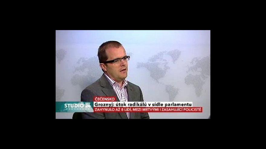 Video Studio ČT24: Útok na čečenský parlament