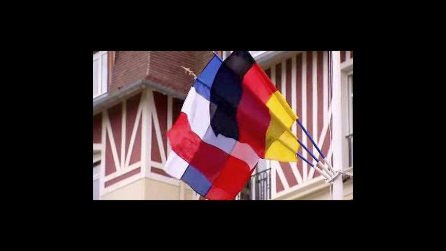 Video Třístranný evropský summit ve Francii