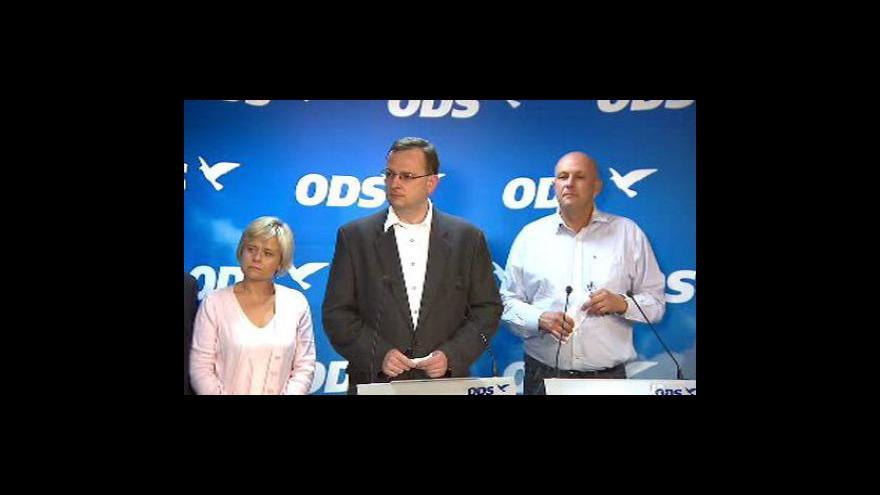 Video Brífink ODS k průběžným výsledkům voleb