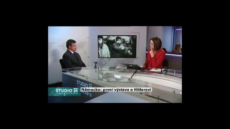 Video Studio ČT24  o výstavě o Hitlerovi