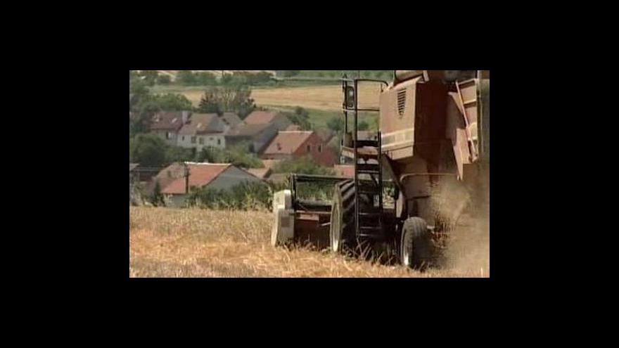 Video Zemědělci sklidí o desetinu méně obilí